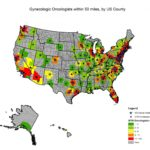 Geographic barriers to gynecologic oncology care affects nearly 10% of women