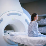A patient prepares for a medical scan.