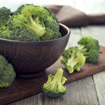 Broccoli, a source of folic acid.