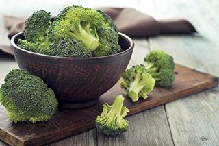 Broccoli, a source of folic acid.