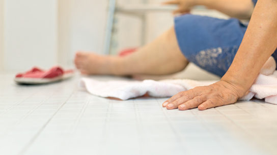 Factors such as frailty and cognitive decline contribute to fall risk in the elderly.