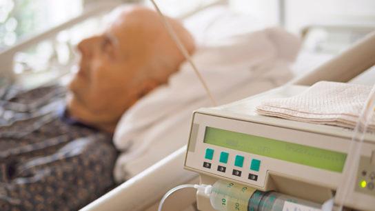 Patient in a palliative care unit.