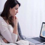 Patient watching online medical video.