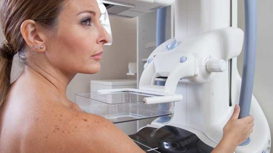 Patient undergoes routine mammography.