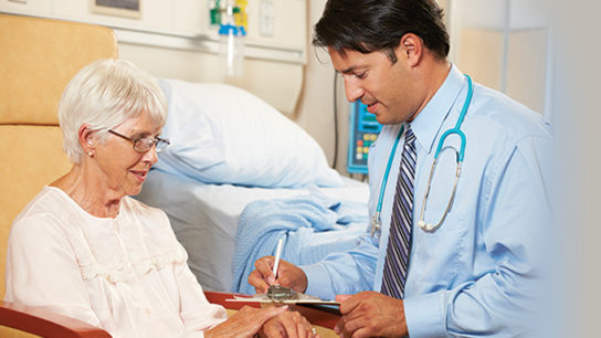 Creating a treatment plan for an older patient.