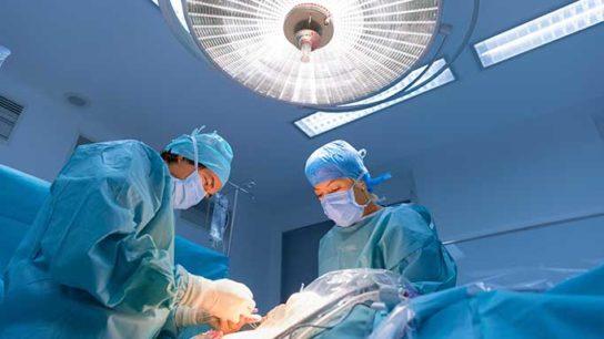 Patient undergoes a surgical procedure.