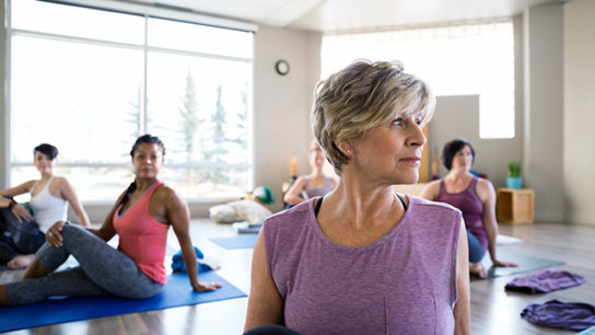 Practicing yoga can have beneficial effects for patients with cancer.