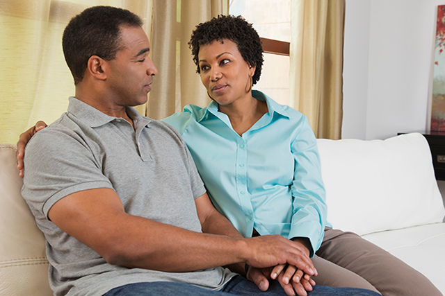 Spousal support can directly impact a patient's quality of life.