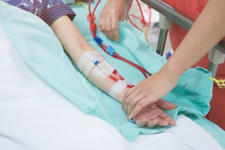 A patient is being prepared for HSCT.