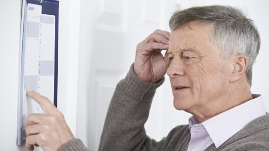 Dementia in an elderly man